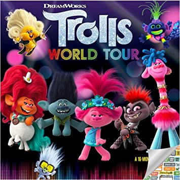 Calendrier World Tour 2021 Trolls Calendrier 2021 – Deluxe 2021 Trolls World Tour Calendrier