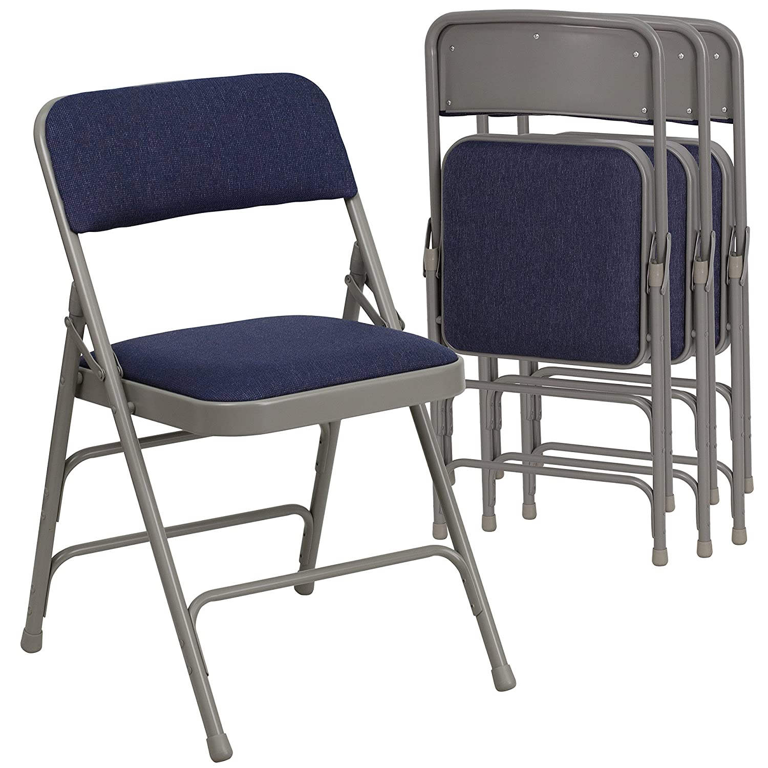 Amazon Flash Furniture HERCULES Series Curved Triple Braced