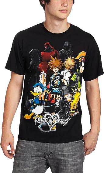 Disney Men's Kingdom Hearts Hearts Group T-Shirt