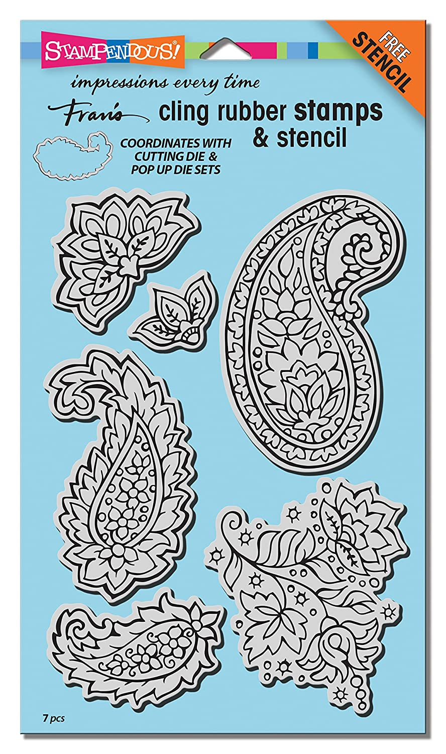 Amazon.com: STAMPENDOUS CRS5100 Cling Rubber Stamp Set, Paisley ...