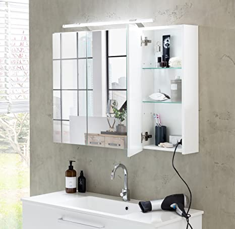 Schildmeyer Spiegelschrank Weiss 80 X 75 X 16 Cm
