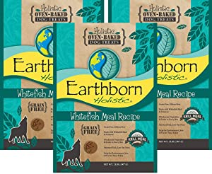 Earthborn Holistic Whitefish Meal Recipe Holistic Oven-Baked Dog Treats, 2 lb, Pack of 3