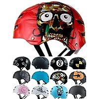 Skullcap® Casco BMX - Casco Skate - Casco Bici, Dirt Bike, Rojo Mate