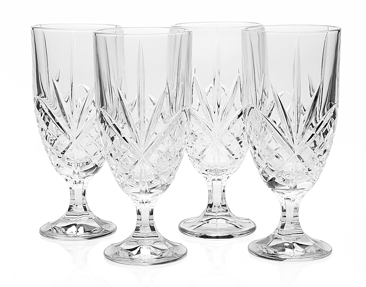 Godinger Dublin Crystal Set of 12 Iced Beverage Glasses 25732
