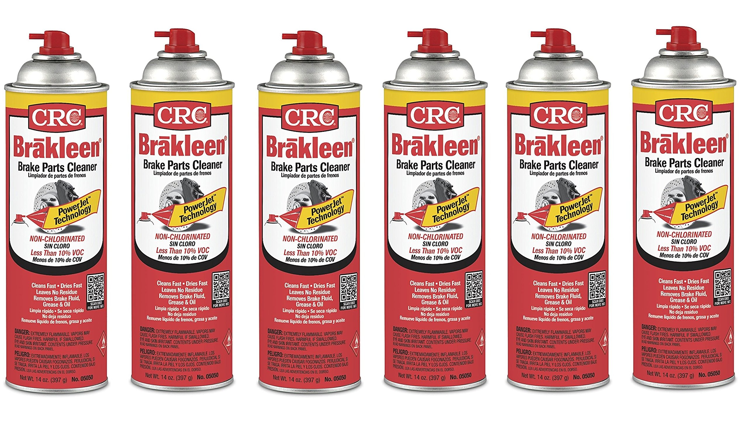 CRC Brakleen® 05050 Brake Parts Cleaner - 50 State Formula with PowerJet Technology (6)