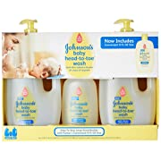 Johnson's Baby Head-to-Toe Wash (2-33.8 fl. oz, 1-9 fl. oz.)