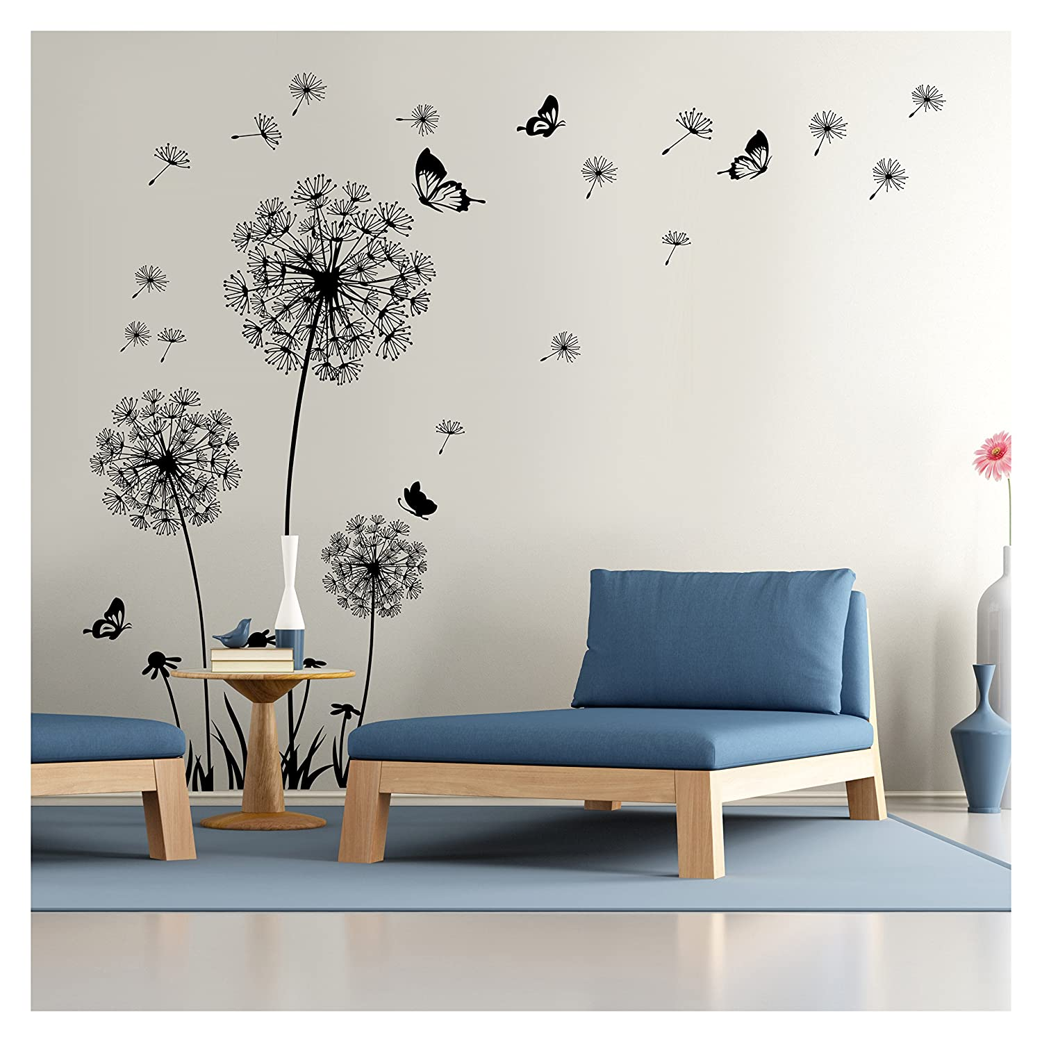 Amazon dandelion wall decal wall stickers dandelion art amazon dandelion wall decal wall stickers dandelion art decor vinyl large peel and stick mural removable by dooboe home kitchen amipublicfo Images