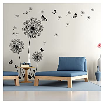 Dandelion Wall Decal   Wall Stickers Dandelion Art Decor  Vinyl Large Peel  And Stick Mural Design Ideas