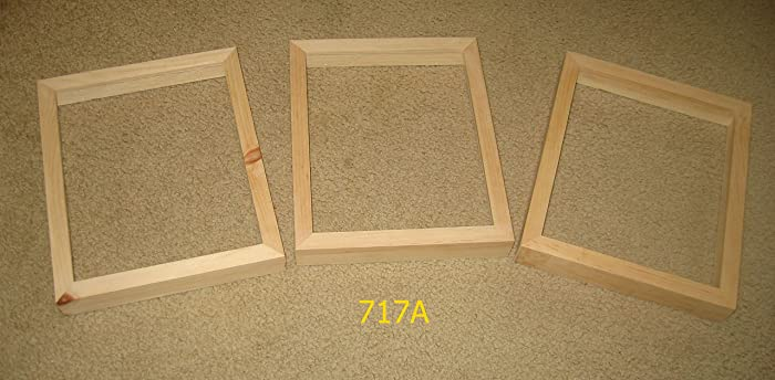 Amazon 3 Unfinished 8x10 Picture Frames With Deep Rabbet For