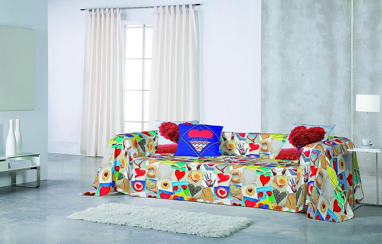NATURALS Love Foulard, algodón, 180 x 260 cm, 1200
