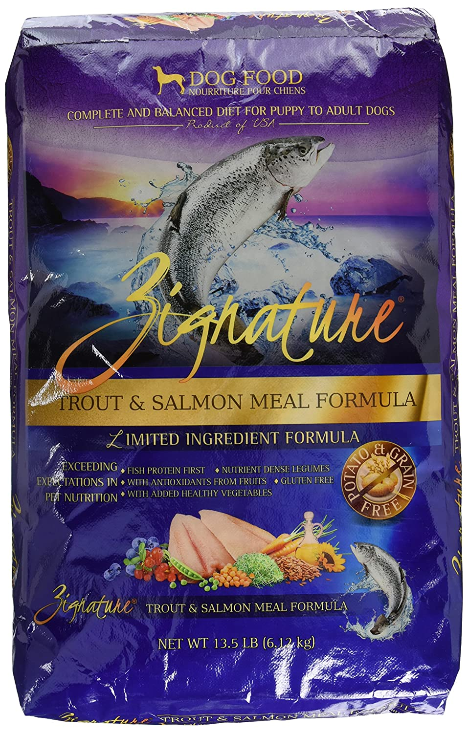 Zignature - Trout and Salmon Meal Formula Dry Dog Food