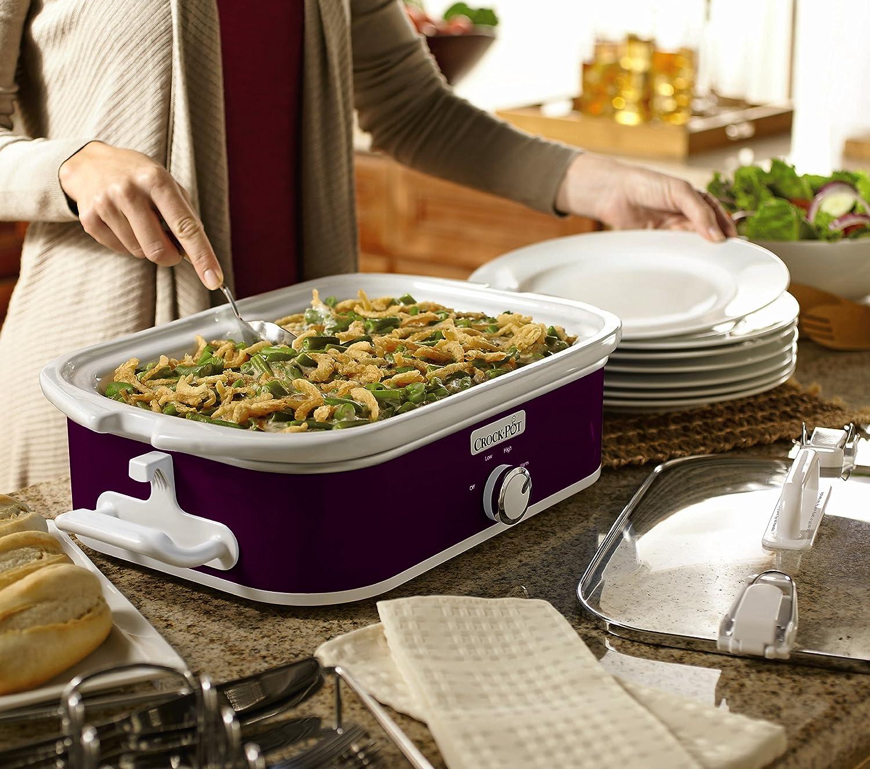 SCCPCCM350-BL Navy Blue Crock-Pot 3.5-Quart Casserole Crock Manual Slow Cooker