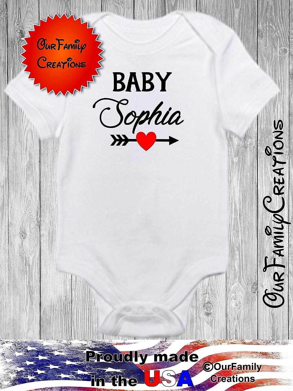 Sophia Personalized Name Baby Romper