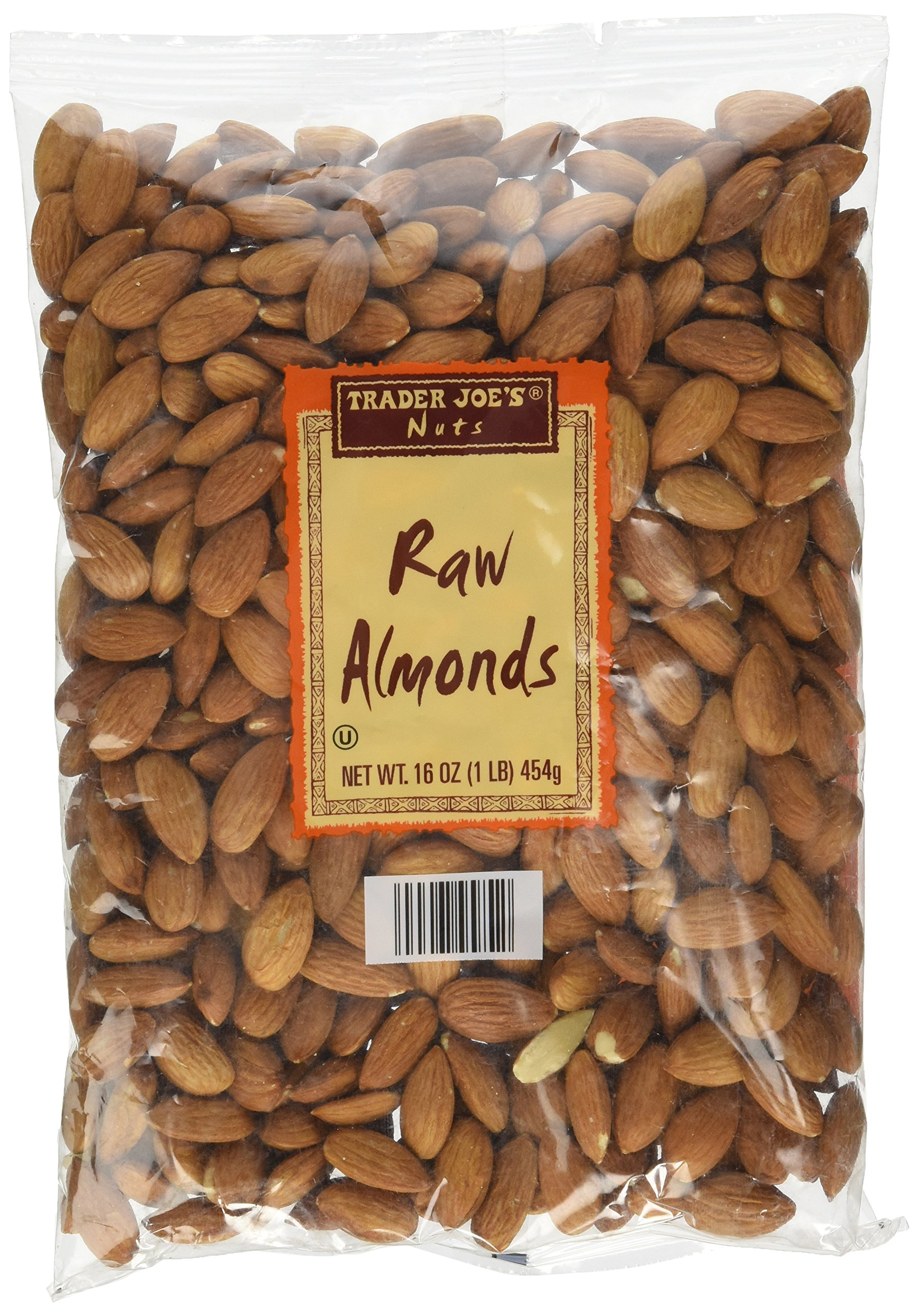 Trader Joe's Raw Almonds 16 Oz