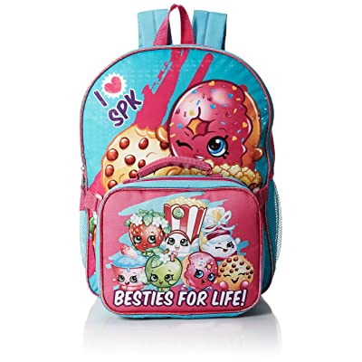 "Shopkins Besties for Life 16"" Backpack with Lunch bag 