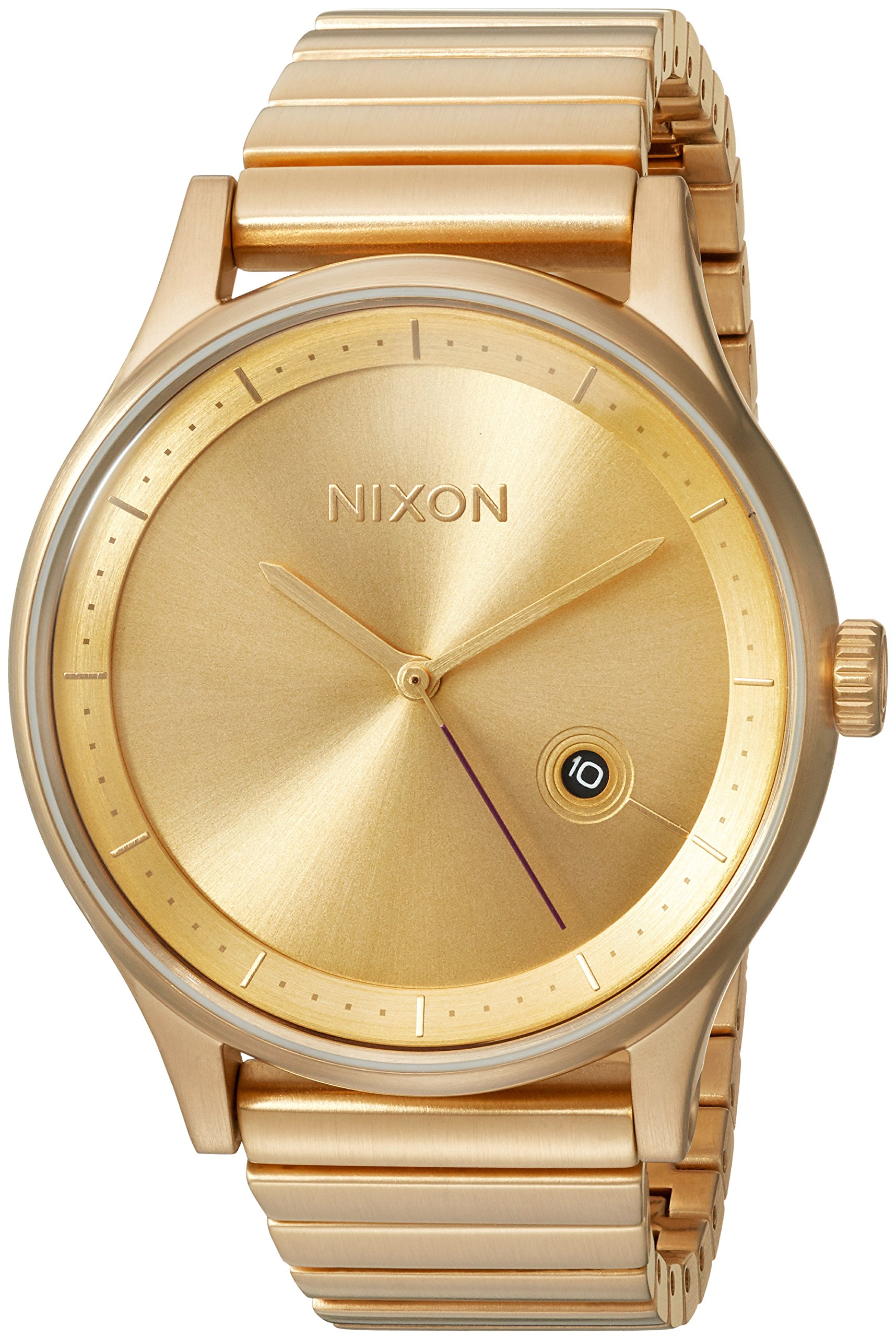 Nixon Men's Station Japanese-Quartz Watch with Stainless-Steel Strap, Gold, 20 (Model: A1160502-00)