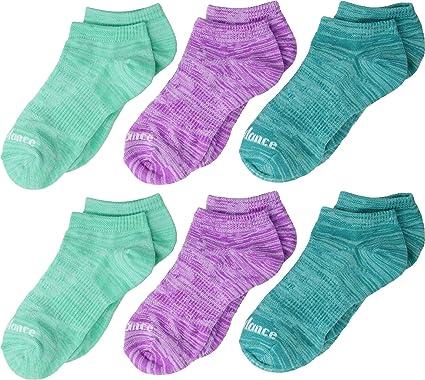 726fbcd0d2e87 Amazon.com: New Balance Unisex Flat Knit No Show 6-Pair (Toddler ...