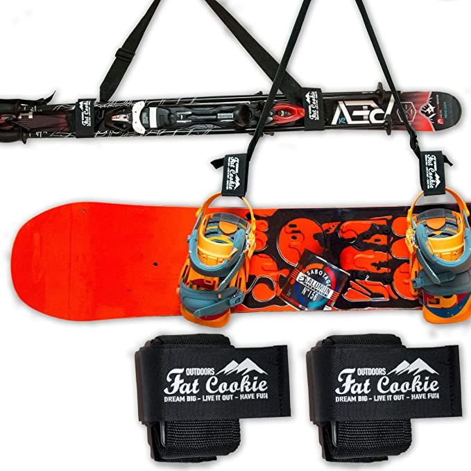 Snowboard Ski Carrier Strap Pole and Boot Carry Sling Strap Durable Plastic