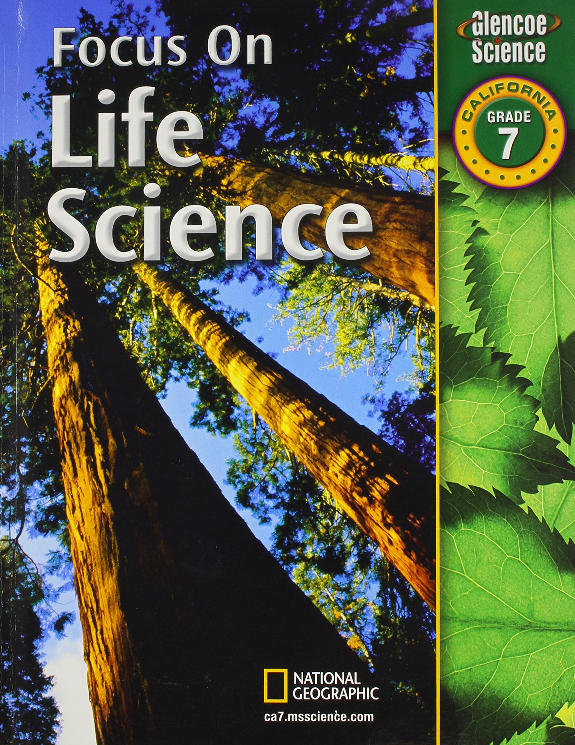 Worksheets Glencoe Life Science Worksheets focus on life science california grade 7 phd juli berwald 9780078794346 amazon com books