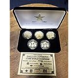 Highland Mint Dallas Cowboys Gold 5-Time Super Bowl Champions 5 Coin Set W/COA