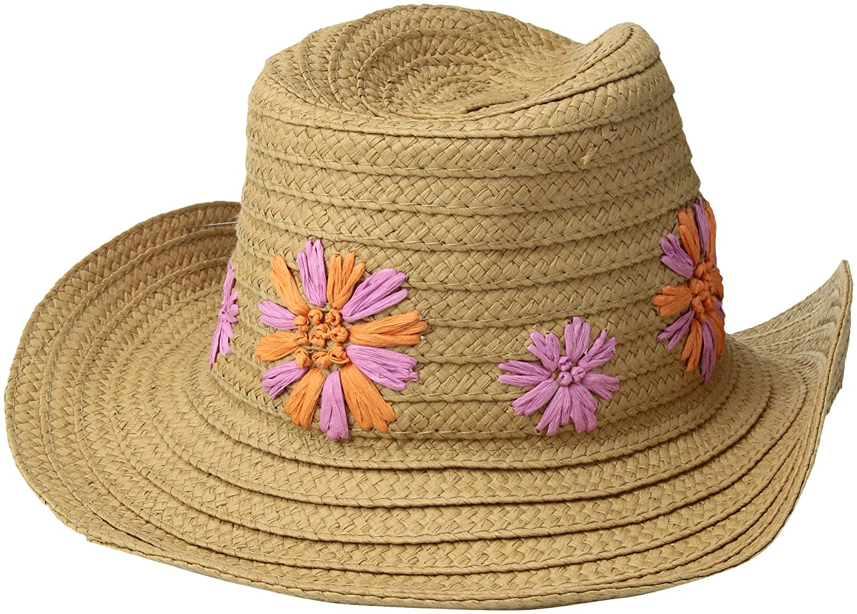 Betsey Johnson Women s Summer Blooms Panama Hat f07d8b0103a1