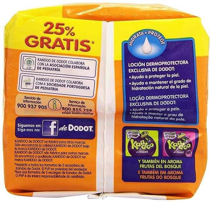 Kandoo de Dodot - Toallitas WC - 100 unidades - [pack de 2]: Amazon.es: Salud y cuidado personal