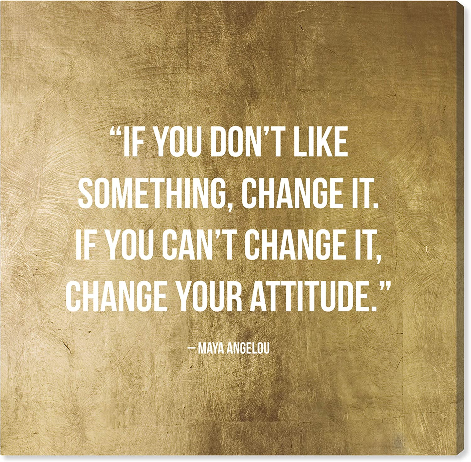 The Oliver Gal Artist Co. Typography and Quotes Wall Art Canvas Prints 'Change It' Home Décor, 24