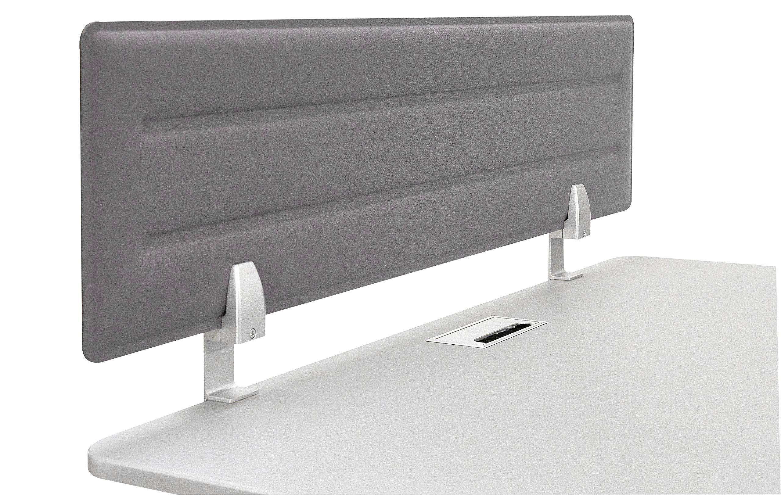 Iceberg 68917 Desktop Tackable Felt Privacy Panel, 46'' x 15'', Gray - Reduce Visual Distractions