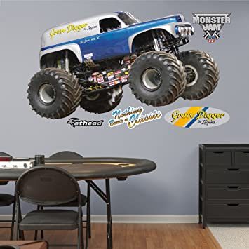 Fathead Wall Decal, Real Big, U0026quot;Monster Jam Grave Digger The ... Part 98