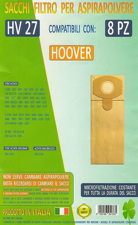 HV27 confezione 8 pezzi sacchetti ricambio HOOVER