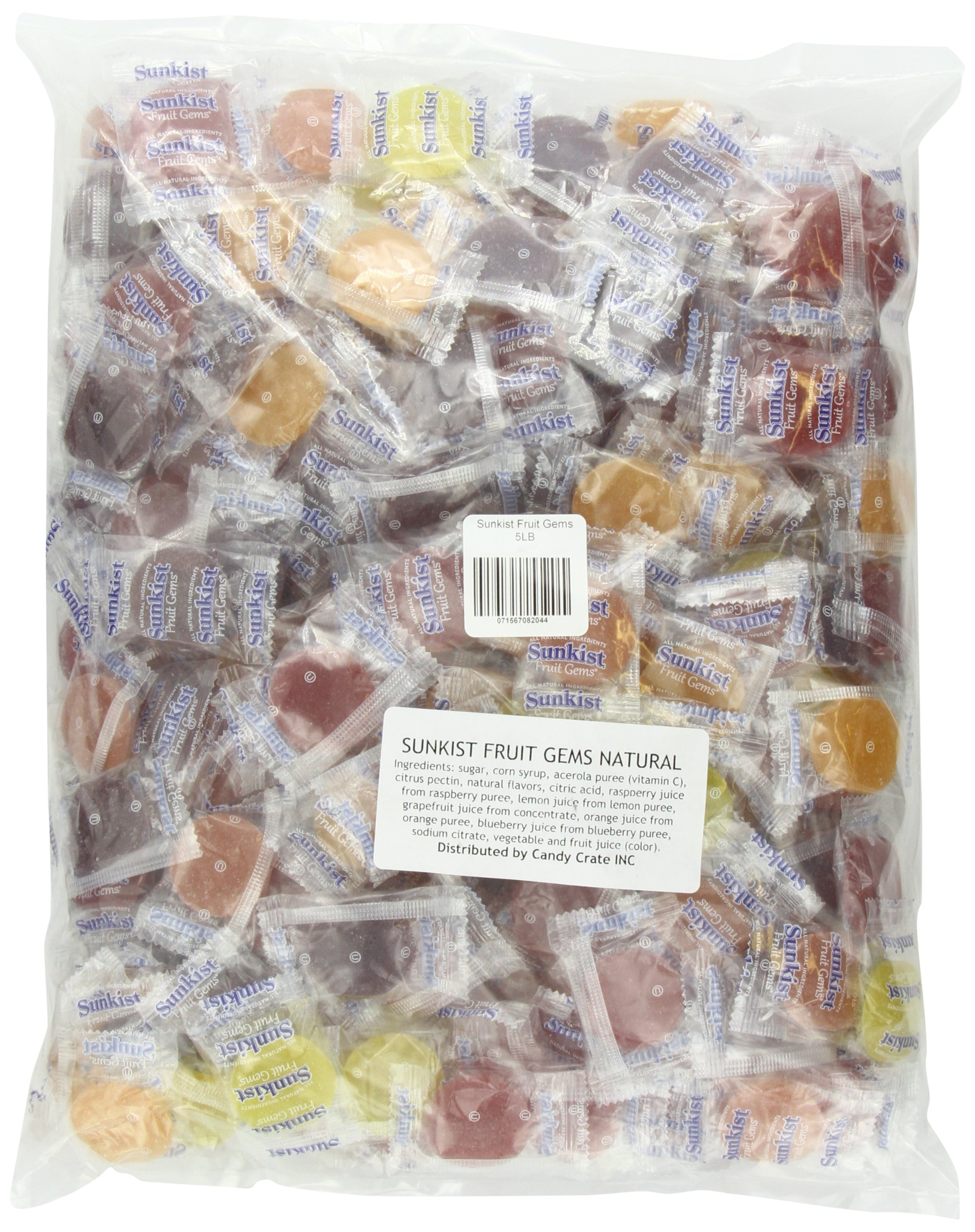 Sunkist Fruit Gems, 5-Pound Bag by Candy Crate (Image #1)