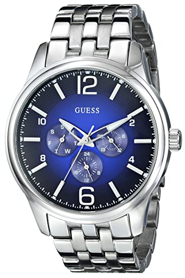 Amazon.com: GUESS Mens U0252G2 On Time Stainless Steel Watch: Guess: Watches