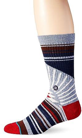Stance Men's Arecibo Classic Crew Socks, Blue, Large/Shoe Size 9 - 12
