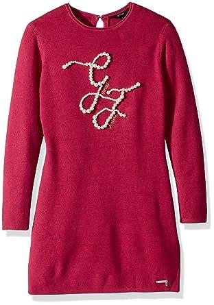 232ef08e78a1 Amazon.com  GUESS Girls  Big Bella Long Sleeve Embellished Sweater ...