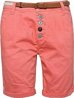 Sublevel Pantaloncini al Ginocchio da Donna con Cintura | Bermuda Corti | Pantaloni Corti da Donna in Colori alla Moda S