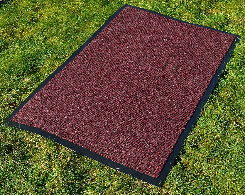 Fb FunkyBuys® Fußmatte mit rutschfester rutschfester rutschfester Gummi-Unterseite, Größe L   S, beige   schwarz, 90x200 cm B06WGSWVZJ Fumatten d1c503