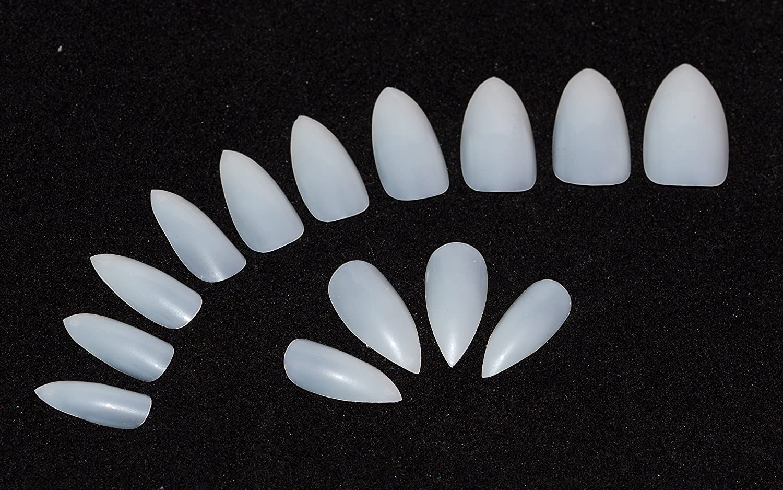 600 piezas de uñas 10 tamaños - falso uñas Consejos tamaño mediano, Natural opaco acrílico uñas postizas pegamento fuerte para salones de manicura y Nail ...