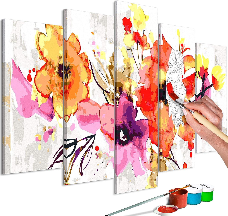 murando Pintura por N/úmeros Geisha Zen 150x60 cm 5 Piezas Cuadros de Colorear por N/úmeros Kit para Pintar en Lienzo con Marco DIY Bricolaje Adultos Ni/ños Decoracion de Pared Regalos n-A-0628-d-m