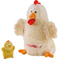 Trudi - Marioneta de Peluche gallina con Pollito (29992)