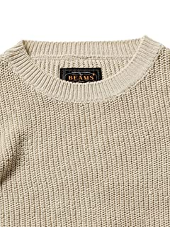 5 Gauge Cotton Rib Crewneck Sweater 11-15-1162-156: Beige