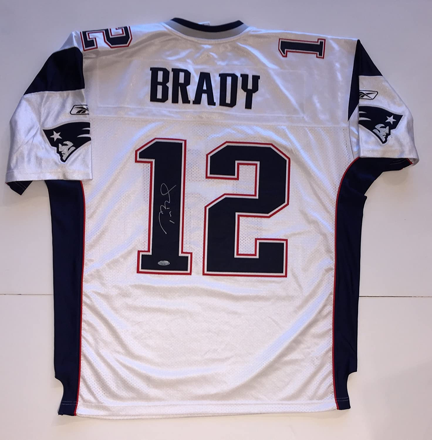 6c68a36597c Tom Brady Autographed Patriots Reebok On-Field Authentic WHITE Jersey SIGNED.  TriStar TSP, Autograph Source TAS, and Beckett Authentication BAS  Certificates ...