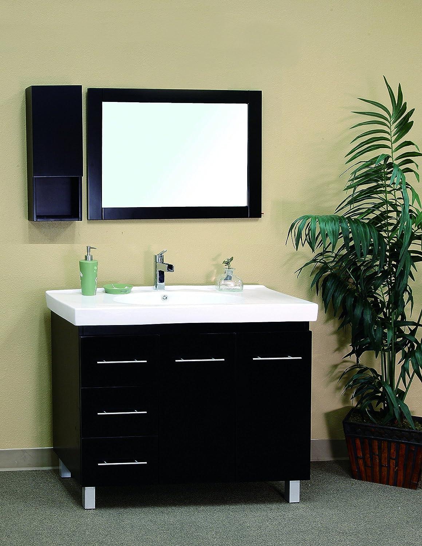 Bellaterra Home 203129-B-L 39-Inch Single Sink Vanity, Left Side Drawers,  Wood, Black - - Amazon