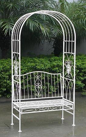 Charles Bentley Arche De Jardin Avec Banc 2 Places Style Vintage