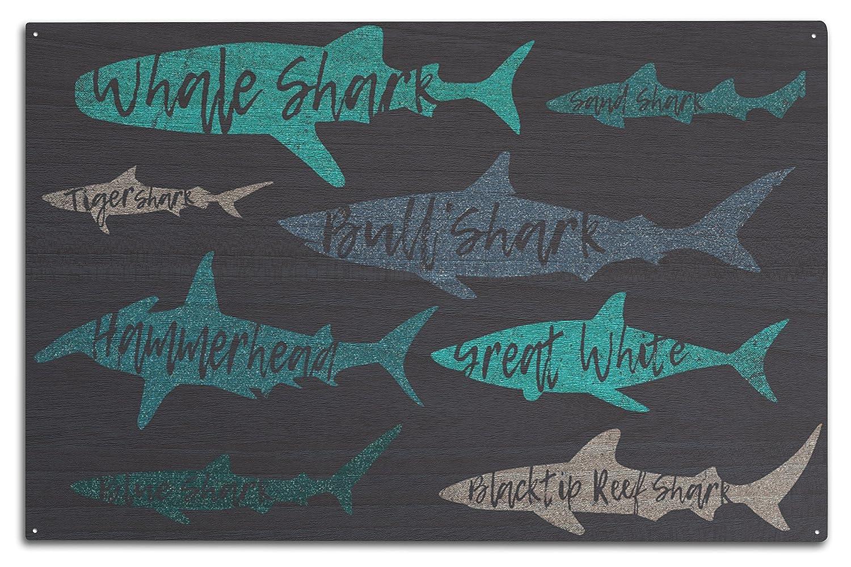 【後払い手数料無料】 Sharksパターン – Sharksパターン Shark名 – 海軍背景 Wood Canvas Tote Bag Sign LANT-86082-TT B07CD8J165 10 x 15 Wood Sign 10 x 15 Wood Sign, カクノダテマチ:55ec71c6 --- vezam.lt