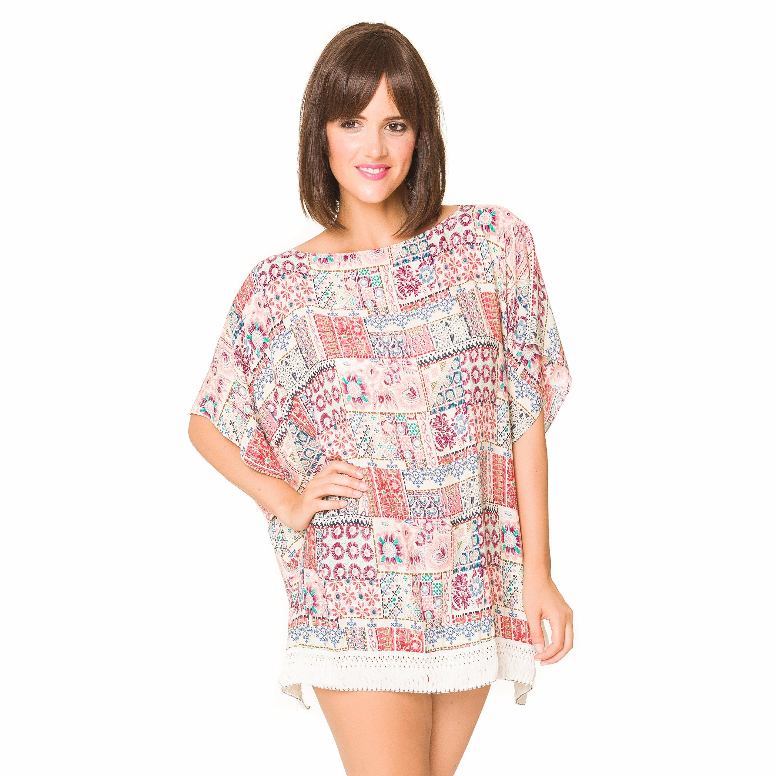 Camisolas Playa Mujer Verano Pareo Vestido para Proteger Sol y Cubrir Bikini 3adfb191929