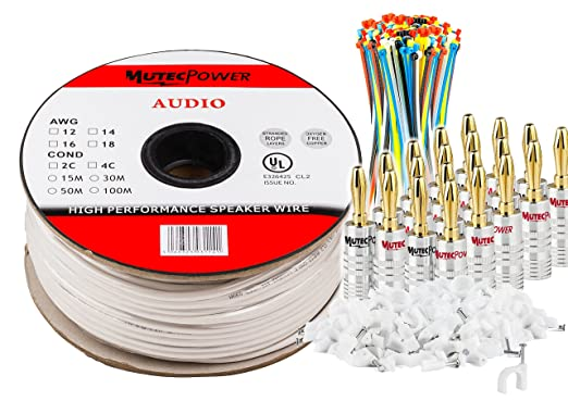 14 opinioni per MuteCable- Cavo per altoparlanti 2 x 1.5mm² (16AWG) 50M CL2 Rated UL Listed