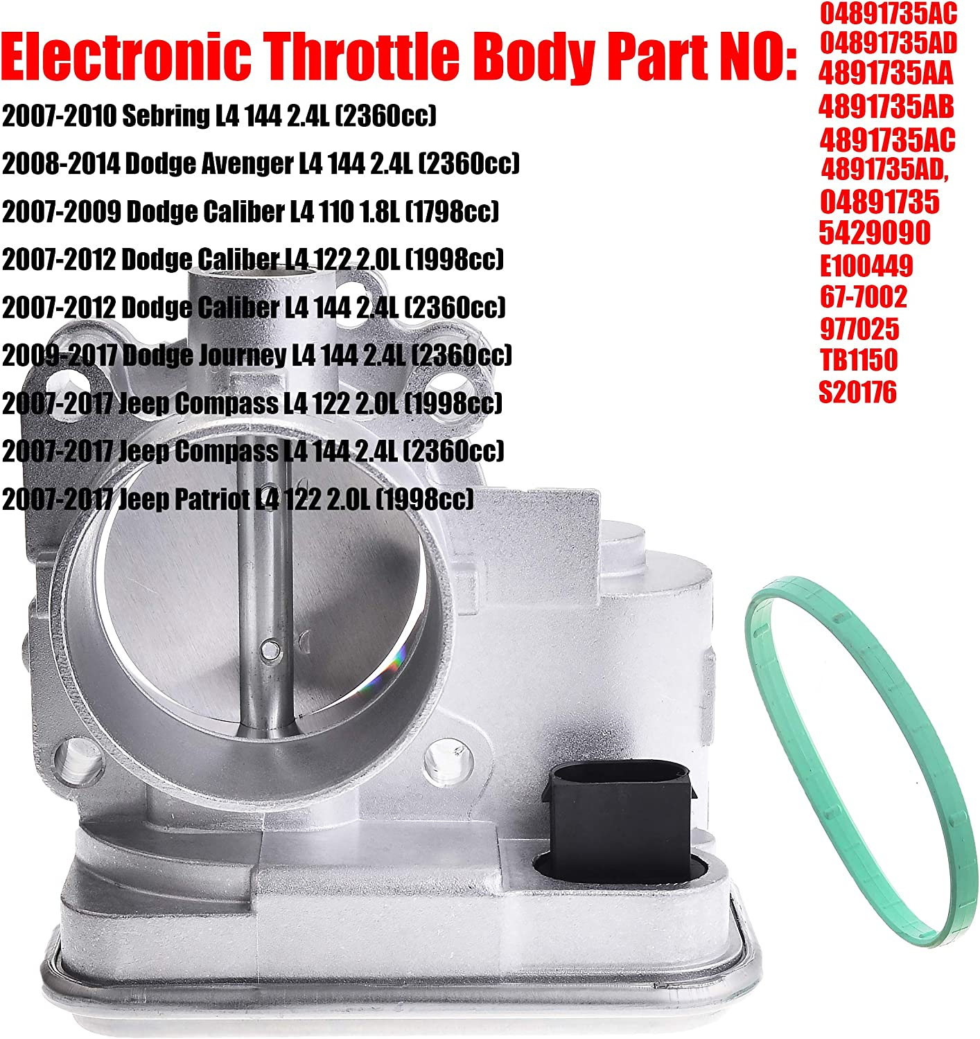 MUSCOLOTECH 04891735AC Original Fuel Injection Electronic Throttle ...