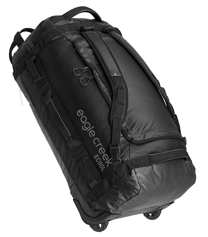 (イーグルクリーク) Eagle Creek キャスター付きダッフルバッグ90L キャリーケース B01HTM0ISK One Size|ブラック ブラック One Size