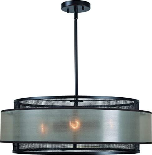 Kenroy Home Alessandra 4 Light Chandelier, Blackened Oil Rubbed Bronze Finish