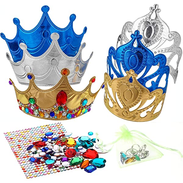 cardstock Party Pack Decorate Your Own Tiara Crowns HAPPY DEALS ~ 12 pc Bulk Class Pack